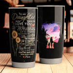 Personalized To My Daughter From Mom Never Forget That I Love You Stainless Steel Tumbler, Tumbler Cups For Coffee/Tea, Great Customized Gifts For Birthday Christmas Thanksgiving Mother's Day