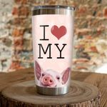 I Love My Pig Stainless Steel Tumbler, Tumbler Cups For Coffee/Tea, Great Customized Gifts For Birthday Christmas Thanksgiving