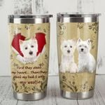 Westie Dog They Steal My Bed And Sofa Stainless Steel Tumbler Perfect Gifts For Dog Lover Tumbler Cups For Coffee/Tea, Great Customized Gifts For Birthday Christmas Thanksgiving