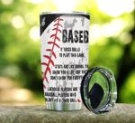 Baseball It Takes Balls To Play This Game Stainless Steel Tumbler Perfect Gifts For Baseball Lover Tumbler Cups For Coffee/Tea, Great Customized Gifts For Birthday Christmas Thanksgiving