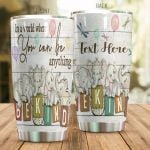 Personalized Elephant In A World Where You Can Be Anything Stainless Steel Tumbler Perfect Gifts For Elephant Lover Tumbler Cups For Coffee/Tea, Great Customized Gifts For Birthday Christmas Thanksgiving
