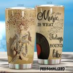 Personalized Music Is What Feelings Sound Like Stainless Steel Tumbler Perfect Gifts For Music Lover Tumbler Cups For Coffee/Tea, Great Customized Gifts For Birthday Christmas Thanksgiving