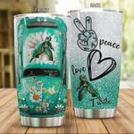 Peace Love Turtle Stainless Steel Tumbler Perfect Gifts For Turtle Lover Tumbler Cups For Coffee/Tea, Great Customized Gifts For Birthday Christmas Thanksgiving