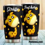 Personalized Giraffe Stainless Steel Tumbler Perfect Gifts For Giraffe Lover Tumbler Cups For Coffee/Tea, Great Customized Gifts For Birthday Christmas Thanksgiving