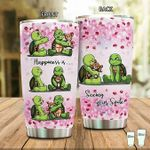 Turtle Happiness Is Seeing Your Smile Stainless Steel Tumbler Perfect Gifts For Turtle Lover Tumbler Cups For Coffee/Tea, Great Customized Gifts For Birthday Christmas Thanksgiving