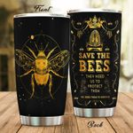 Bee They Need Us To Protect Stainless Steel Tumbler Perfect Gifts For Bee Lover Tumbler Cups For Coffee/Tea, Great Customized Gifts For Birthday Christmas Thanksgiving