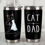 Black Cat Dad Stainless Steel Tumbler, Tumbler Cups For Coffee/Tea, Great Customized Gifts For Birthday Christmas Thanksgiving