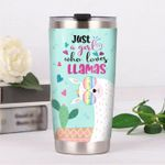 Just A Girl Who Loves Llamas Stainless Steel Tumbler, Tumbler Cups For Coffee/Tea, Great Customized Gifts For Birthday Christmas Thanksgiving