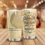 Thank You Coach For Always Believing In Us Stainless Steel Tumbler, Tumbler Cups For Coffee/Tea, Great Customized Gifts For Birthday Christmas Thanksgiving