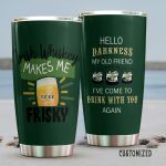 Personalized Irish Whiskey Makes Me Frisky Stainless Steel Tumbler Perfect Gifts For Wine Lover Tumbler Cups For Coffee/Tea, Great Customized Gifts For Birthday Christmas Thanksgiving