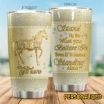 Personalized Horse Stand Up For What You Believe Stainless Steel Tumbler Perfect Gifts For Horse Lover Tumbler Cups For Coffee/Tea, Great Customized Gifts For Birthday Christmas Thanksgiving