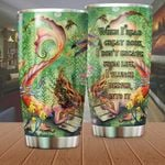 Mermaid When I Read A Great Book Stainless Steel Tumbler Perfect Gifts For Mermaid Lover Tumbler Cups For Coffee/Tea, Great Customized Gifts For Birthday Christmas Thanksgiving