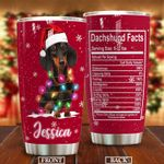 Personalized Dachshund Facts Stainless Steel Tumbler Perfect Gifts For Dog Lover Tumbler Cups For Coffee/Tea, Great Customized Gifts For Birthday Christmas Thanksgiving