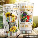 Personalized Gardening I Garden So I Don't Choke People Sunflower Stainless Steel Tumbler Perfect Gifts For Gardening Lover Tumbler Cups For Coffee/Tea, Great Customized Gifts For Birthday Christmas Thanksgiving