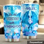 Personalized Dolphin Do All Thing With Kindness Stainless Steel Tumbler Perfect Gifts For Dolphin Lover Tumbler Cups For Coffee/Tea, Great Customized Gifts For Birthday Christmas Thanksgiving
