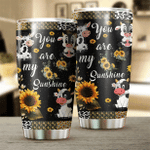 Cow Sunflower You Are My Sunshine Stainless Steel Tumbler Perfect Gifts For Cow Lover Tumbler Cups For Coffee/Tea, Great Customized Gifts For Birthday Christmas Thanksgiving