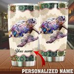 Personalized Turtle Steel Tumbler Perfect Gifts For Turtle Lover Tumbler Cups For Coffee/Tea, Great Customized Gifts For Birthday Christmas Thanksgiving