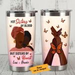 Personalized Black Girl Bestie Butterfly Not Sisters By Blood Stainless Steel Tumbler Perfect Gifts For Butterfly Lover Tumbler Cups For Coffee/Tea, Great Customized Gifts For Birthday Christmas Thanksgiving