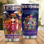 Personalized A Little Hippie A Little Hood Stainless Steel Tumbler Perfect Gifts For Hipppie Tumbler Cups For Coffee/Tea, Great Customized Gifts For Birthday Christmas Thanksgiving