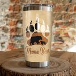 Mama Bear Stainless Steel Tumbler, Tumbler Cups For Coffee/Tea, Great Customized Gifts For Birthday Christmas Thanksgiving