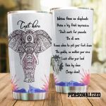 Personalized Elephant Make A Big First Impression Stainless Steel Tumbler Perfect Gifts For Elephant Lover Tumbler Cups For Coffee/Tea, Great Customized Gifts For Birthday Christmas Thanksgiving