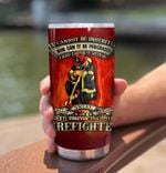 Firefighter It Cannot Be Inherited Stainless Steel Tumbler Perfect Gifts For Firefighter Tumbler Cups For Coffee/Tea, Great Customized Gifts For Birthday Christmas Thanksgiving