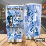 Personalized Diabetes Awareness I Am The Storm Stainless Steel Tumbler Perfect Gifts For Diabetes Tumbler Cups For Coffee/Tea, Great Customized Gifts For Birthday Christmas Thanksgiving