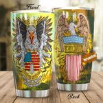 Personalized US Army Bald Eagle Gun We Stand For The Flag Stainless Steel Tumbler Perfect Gifts For Us Army Tumbler Cups For Coffee/Tea, Great Customized Gifts For Birthday Christmas Thanksgiving