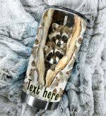 Personalized Raccoon Stainless Steel Tumbler Perfect Gifts For Raccoon Lover Tumbler Cups For Coffee/Tea, Great Customized Gifts For Birthday Christmas Thanksgiving