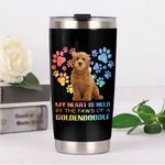 My Heart Is Held By The Paws Of A Goldendoodle Stainless Steel Tumbler, Tumbler Cups For Coffee/Tea, Great Customized Gifts For Birthday Christmas Thanksgiving