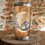 Owl I Love You To The Moon And Back Stainless Steel Tumbler, Tumbler Cups For Coffee/Tea, Great Customized Gifts For Birthday Christmas Thanksgiving