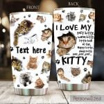 Personalized Cat I Love My Soft Kitty Stainless Steel Tumbler Perfect Gifts For Cat Lover Tumbler Cups For Coffee/Tea, Great Customized Gifts For Birthday Christmas Thanksgiving