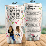 Love Is In The Hair Stainless Steel Tumbler, Tumbler Cups For Coffee/Tea, Great Customized Gifts For Birthday Christmas Thanksgiving