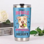 Pitbull Dog The Biggest Muscle In A Pitbull Stainless Steel Tumbler Perfect Gifts For Dog Lover Tumbler Cups For Coffee/Tea, Great Customized Gifts For Birthday Christmas Thanksgiving