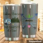 Personalized Camping One Campsite At A Time Stainless Steel Tumbler Perfect Gifts For Camping Lover Tumbler Cups For Coffee/Tea, Great Customized Gifts For Birthday Christmas Thanksgiving