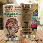 Personalized Hippie Give Me The Beat And Find My Soul Stainless Steel Tumbler Perfect Gifts For Hipppie Tumbler Cups For Coffee/Tea, Great Customized Gifts For Birthday Christmas Thanksgiving