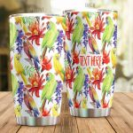 Personalized Parrot Stainless Steel Tumbler Perfect Gifts For Parrot Lover Tumbler Cups For Coffee/Tea, Great Customized Gifts For Birthday Christmas Thanksgiving