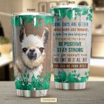 Personalized Llama Some Days Are Better Green Stainless Steel Tumbler Perfect Gifts For Llama Lover Tumbler Cups For Coffee/Tea, Great Customized Gifts For Birthday Christmas Thanksgiving