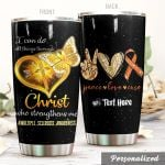 Personalized Multiple Sclerosis I Can Do All Thing Through Christ Stainless Steel Tumbler Perfect Gifts For Multiple Sclerosis Tumbler Cups For Coffee/Tea, Great Customized Gifts For Birthday Christmas Thanksgiving