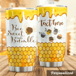 Personalized Bee Sweet And Bumble Stainless Steel Tumbler Perfect Gifts For Bee Lover Tumbler Cups For Coffee/Tea, Great Customized Gifts For Birthday Christmas Thanksgiving