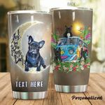 Personalized French Bulldog Hippie Van Love I Love You To The Moon And Back Stainless Steel Tumbler Perfect Gifts For Dog Lover Tumbler Cups For Coffee/Tea, Great Customized Gifts For Birthday Christmas Thanksgiving