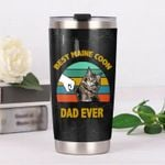 Best Maine Coon Dad Ever Vintage Background Stainless Steel Tumbler Perfect Gifts For Dog Lover Tumbler Cups For Coffee/Tea, Great Customized Gifts For Birthday Christmas Thanksgiving
