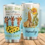 Personalized Giraffe Today I Choose To Be Happy Stainless Steel Tumbler Perfect Gifts For Giraffe Lover Tumbler Cups For Coffee/Tea, Great Customized Gifts For Birthday Christmas Thanksgiving