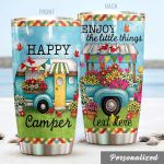 Personalized Camping Enjoy The Little Things Stainless Steel Tumbler Perfect Gifts For Camping Lover Tumbler Cups For Coffee/Tea, Great Customized Gifts For Birthday Christmas Thanksgiving