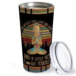 Yoga Girl I'm Mostly Peace Love And Light Vintage Stainless Steel Tumbler, Tumbler Cups For Coffee/Tea, Great Customized Gifts For Birthday Christmas Thanksgiving