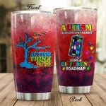 Autism Using A Different Road Map Stainless Steel Tumbler, Tumbler Cups For Coffee/Tea, Great Customized Gifts For Birthday Christmas Thanksgiving