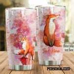 Personalized Fox Stainless Steel Tumbler Perfect Gifts For Fox Lover Tumbler Cups For Coffee/Tea, Great Customized Gifts For Birthday Christmas Thanksgiving