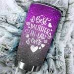 Best Mother-In-Law Ever Stainless Steel Tumbler Perfect Gifts For Mother In Law Tumbler Cups For Coffee/Tea, Great Customized Gifts For Birthday Christmas Thanksgiving Mother's Day