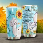 Personalized Elephant Sunflower To My Daughter From Mom I Hope You Believe In Yourself Stainless Steel Tumbler Perfect Gifts For Elephant Lover Tumbler Cups For Coffee/Tea, Great Customized Gifts For Birthday Christmas Thanksgiving