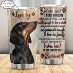 Personalized Dachshund Dog God Once Said Stainless Steel Tumbler Perfect Gifts For Dog Lover Tumbler Cups For Coffee/Tea, Great Customized Gifts For Birthday Christmas Thanksgiving